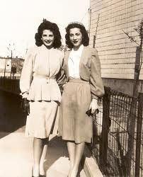 Black and White Vintage Photo of 1940's Fashion