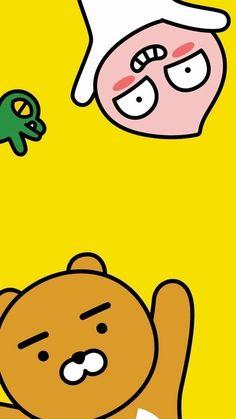 Apeach,Con,Ryan K Wallpaper, Kawaii Wallpaper, Wallpaper Iphone Cute, Wallpaper Backgrounds, Kakao Ryan, Apeach Kakao, Bts Cute, Cute Lockscreens, Kakao Friends