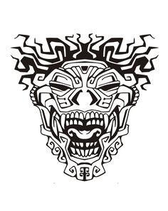 Free coloring page coloring adult totem inspiration inca mayan