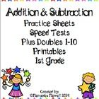 This provides lots of adding and subtracting practice 1-12, and doubles facts that can only improve math fluency!  Included are speed tests that ca...