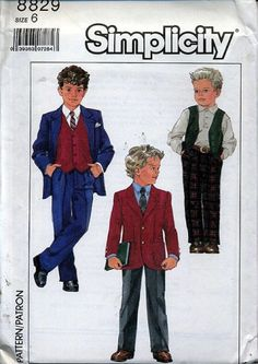 Vintage Children Sewing Pattern Little Boys Suit