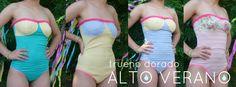 #swimwear #swimsuit #underwear #vintage #fabric #floral #pastels #liberty #pink #yellow #indumentaria #body