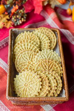 Pumpkin Spiced Pizzelles ~ pumpkin puree and pumpkin pie spice flavor this simple little easy-to-make cookie. Mold into an edible bowl for ice cream! Pizzelle Cookies, Pizzelle Recipe, Shortbread Recipes, Cookie Recipes, Pumpkin Pie Spice, Pumpkin Puree, Fall Cookies, Christmas Cookies, Christmas Treats