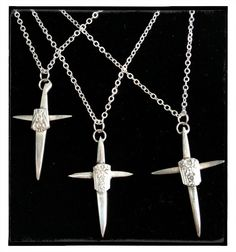 Fork tine cross pendant by Girl Ran Away With the Spoon