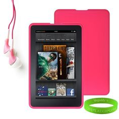 Amazon Kindle Fire Accessories Kit, Bundle Includes: Pink Dust Resistant Kindle Fire Skin Cover + Compatible Noise reduction Black Kindle Fire Earbuds Earphones + Vangoddy tm Live * Laugh * Love Wrist Band!!! by VG. $10.95. Personalize and protect your Kindle Fire Tablet!!!Form fitting thick skin made of durable high grade silicone provides protection by preventing scratches, chips and finger prints. Silicone skin is anti-dust to prevent dirt built-up and can easily be washed a...