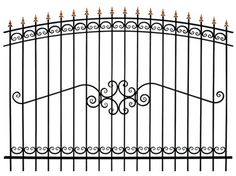 Wrought Iron Gate Designs, Wrought Iron Fences, Metal Fence, Window Grill Design, Fence Design, Stair Railing Design, Railings, Sliding Gate, House Design