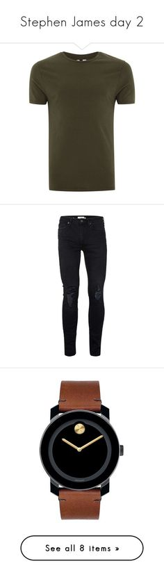 """""""Stephen James day 2"""" by kenziekoo01 ❤ liked on Polyvore featuring men's fashion, men's clothing, men's jeans, jeans, men, light blue, mens distressed jeans, mens distressed skinny jeans, mens super skinny ripped jeans and mens mid rise jeans #mensjeansripped"""