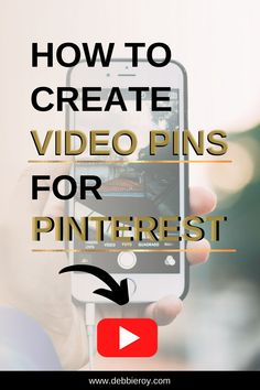 How to create video pins for Pinterest?  You know that video marketing is where it's at, but you don't know how to navigate video pins. In this video, I'll show you a quick tutorial on how to create video pins in just a few steps. Welcome To The Group, Pinterest For Business, Growing Your Business, Pinterest Marketing, Cover Photos, Knowing You, Digital Marketing, Personal Care, Ads