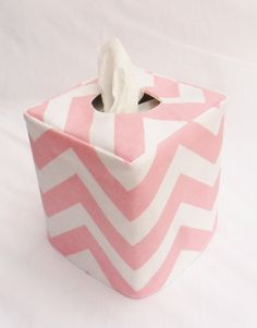 Pink Chevron Reversible Tissue Box Cover By Headtotoe2009 On Etsy 12 50 Covers