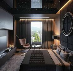37 Wonderful Luxury Bedroom Design Ideas You Will Love - If you've ever watched Lifestyles of the Rich and Famous, you are familiar with what luxury bedroom decor is. It is defined by it's beauty, material, . Men's Bedroom Design, Home Decor Bedroom, Lux Bedroom, Bachelor Pad Bedroom, Bedroom Furniture, 1930s Bedroom, Men Home Decor, Boys Furniture, Furniture Makers