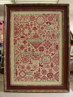 Fantastic Christmas cross stitch sampler - really astonishingly complex