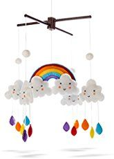 Marmelada Rainbow Mobile Clouds Raindrops Nursery Baby Room Bedtime Night Décor -- Click image for more details. (This is an affiliate link and I receive a commission for the sales) Clouds Nursery, Nursery Crib, Girl Nursery, Nursery Decor, Nursery Ideas, Room Ideas, Rainbow Room, Rainbow Nursery, Rainbow Baby
