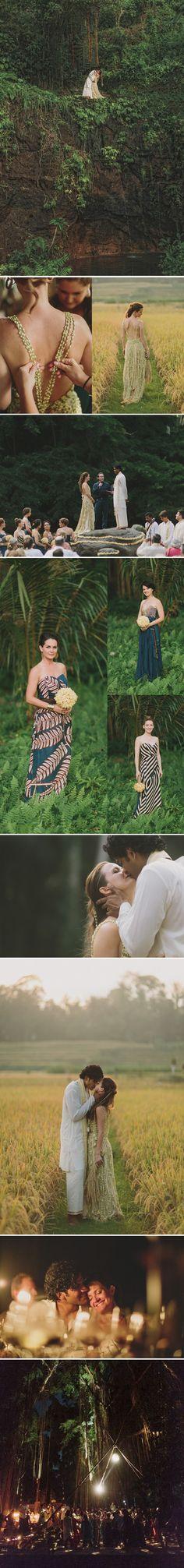 A dress made of jasmine... a balinese wedding.