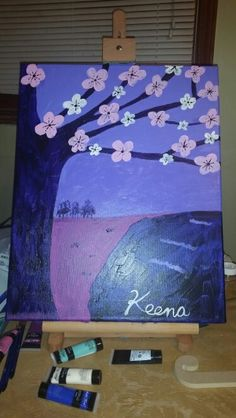 Rhapsody in Purple acrylics