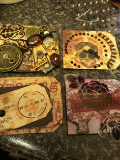 Finished mini album pre assembly. Very OTT and quite steampunky.