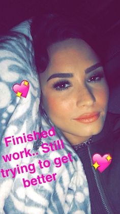 Demi on snap chat-She is so beautiful!
