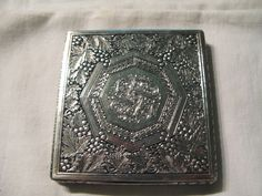 137g Vintage Handcraft 800 Sterling SILVER SNUFF BOX by spyrinex06 on Etsy