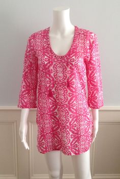 Tara Michelle Madison Pink Ikat Tunic