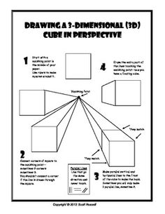 Drawing Cubes in 1 Point Perspective handout  $1.00
