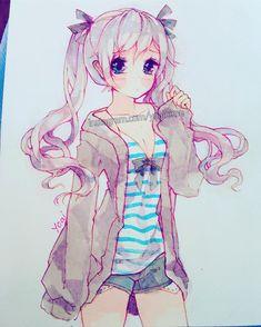 Pink ~ Have a nice day! - - - -#micronpen #whitegelpen #sakurakoi #watercolor #moleskinesketchbook