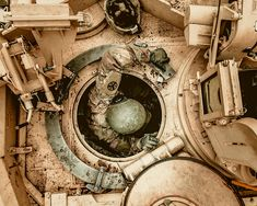 An Abrams Tank master gunner performed a remote-fire procedure, to ensure the tank's pr.