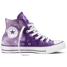 Converse Chuck Taylor All Star Tie Dye Hi-Top Trainers, Purple / White Galaxy Converse, Converse All Star, Converse Haute, Style Converse, Cool Converse, Outfits With Converse, Converse Sneakers, Converse Chuck Taylor All Star, Tie Dye Converse
