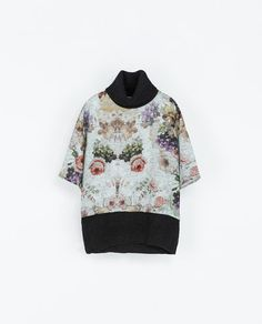 ZARA - NEW COLLECTION - COMBINED FLORAL SWEATER