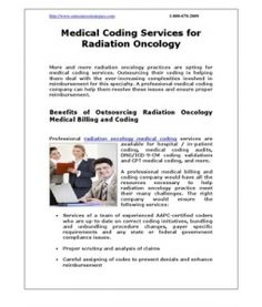 Medical Coding Services for Radiation Oncology
