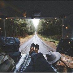 It's time for a new adventure. Road trip. Van views. Camper van.