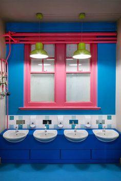 Aberrant Architecture, London, Neugestaltung Rosemary Works School in London, 2014, Ansicht Innenraum, Foto Simon Kennedy