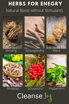 Herbs for Energy: Natural Clean Boost without Stimulants – Pins Natural Energy, Natural Cures, Natural Healing, Healing Herbs, Medicinal Plants, Natural Medicine, Herbal Medicine, Herbal Remedies, Health Remedies