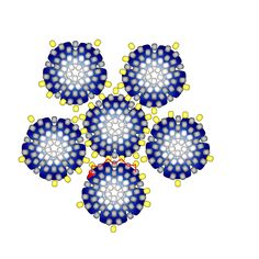 FREE Pattern ROSE PETALS Beaded Bead. Stitch the 12 flowers together using only the yellow beads. Page 4 of 4