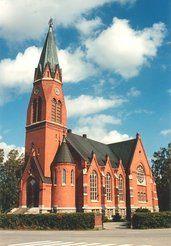 Kirkko kauhava Täällä pääsin ripiltä ja menin vihille. Little Brown, Cathedrals, All Over The World, Finland, Buildings, Mansions, Landscape, Country, Architecture