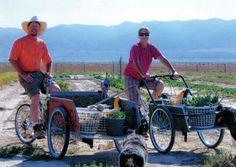 Learn how to make a handy bike cart.