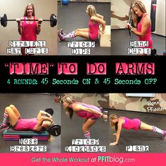Timed to do arms before they get more flabby -  Arm Workout
