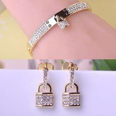 Wholesale Lock Lovers Bangles Bracelets Buy Two Saving More Bulk Sale Free Shipping Korean Style Fashion Women Jewelry  #bracelets #jewellery #earrings #weddingbands #jewelry