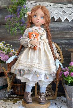 Коллекционные куклы ручной работы. Маруся и ее Рыжее Счастье, текстильная…