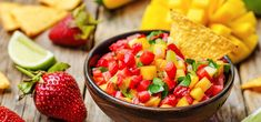 This strawberry salsa recipe is adaptable and can be made with a variety of fruits and your favorite white balsamic vinegar. Use it to top grilled chicken, fish or pork, tacos or tortilla chips. Strawberry Mango Salsa, Strawberry Recipes, Summer Party Appetizers, Cinnamon Tortillas, Olive Recipes, Variety Of Fruits, Salsa Recipe, Recipe Today, Tasty Dishes