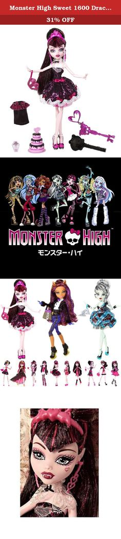 Monster High Sweet 1600 Draculaura Doll. Monster High Sweet 1600 Doll Collection!Draculaura is turning 1600 and is throwing the party of the millennium. All the ghoul kids will be there in their most fabulous party fashions with their exclusive skeleton key invite. As the guest of honor, Draculaura doll has an outfit to die for with lots of lace and shine, just the way she likes it. Special Sweet 1600 elements include a flouncy skirt, frostinginspired shoes, a tiara and an extra skirt in...