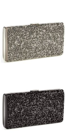 This crystal glitter clutch is on the prom wish list.