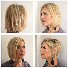 Before and after picture of one of my favorite clients...the top two are before and the bottom ones are after:) I created a modern but with a little edge bob! She loved it! #michaelsparks #michaelsparkshair #malibu #lovemyjob #swag #love #ramireztran #ramireztransalon #beverlyhills #california #movement #hairstyle #haircut #blonde #bob #shorthair