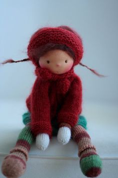 "Waldorf knitted doll Malene 13"" by Peperuda dolls"