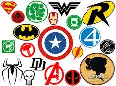 Superheroes SVG Superhero eps Superhero logo SVG by LucretiasSvg Superhero Classroom, Superhero Room, Female Comic Heroes, Logo Super Heros, Super Hero Day, Superhero Clipart, Hero Logo, Logo Clipart, Avengers Birthday