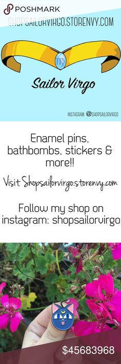 pínѕ, вαthвσmвѕ & mσrє! Heyy, thank you so much for checking out this listing! Enamel pins designed by me! Handmade bathbombs made by me! I love to create and I love sharing my creations with the world. If you purchase from my shop or purchase from me here on Poshmark you are supporting my dream! Thank you again! Follow my shop on instagram for updates on new arrivals: @shopsailorvirgo. Visit Shopsailorvirgo.storenvy.com to shop my creations! 💖💝💓💕😊❣️💗 Other