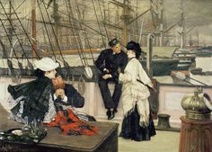 Tissot - The Captain and the Mate, 1873. Love the fringe.