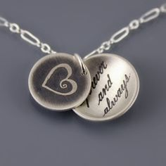 Forever and Always Necklace in sterling silver by Lisa Hopkins Design--I would love to receive this :)