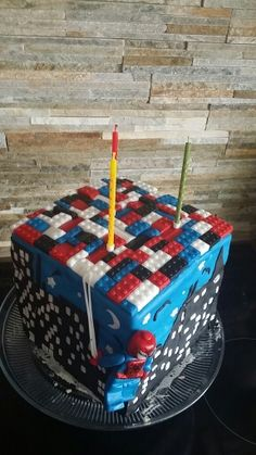Birthday cake lego spiderman
