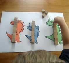 Dino theme: Math for Kids- Measuring {Read.
