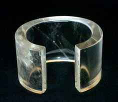 Rare Vintage: The Icon: An Amazing and Rare Tina Chow Rock Crystal Cuff