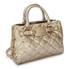 Michael Kors Stud Quilted Large Gold Tote